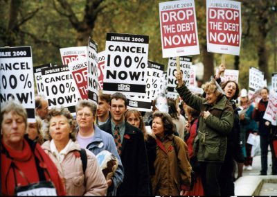 Jubilee 2000 debt cancellation campaign, London 1999.