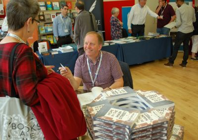 Book signing conversation